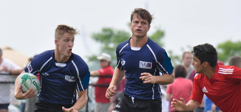 NAV 7s' Corey Jones, and Michael Basnett