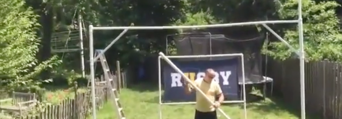 Construct URugby goal posts