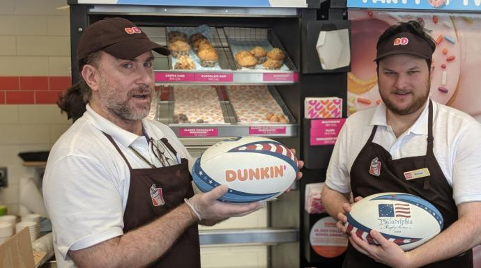 Thanks to Dunkin' for their sponsorship on our official tournament rugby ball
