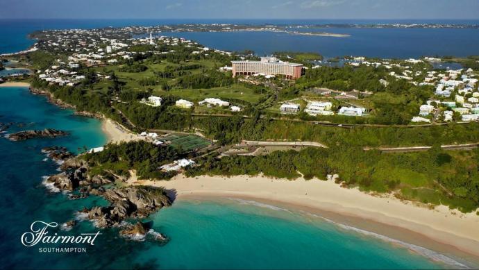 overhead shot of Fairmount Southampton, Bermuda